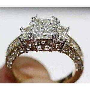 Jewelry - 3.66 Carat diamond Three Stone Diamond Ring